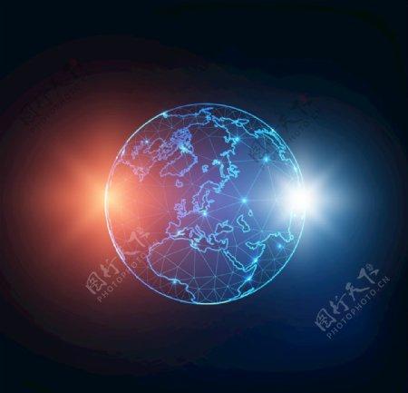 光效地球高科技宇宙太空EPS图片