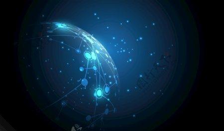 全球化蓝色科技EPS素材矢量图片