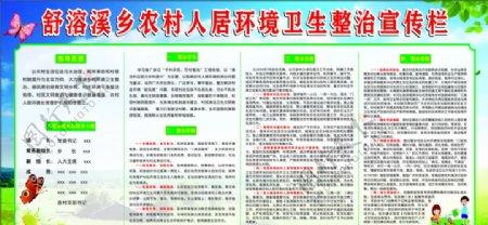 农村人居环境卫生整治宣传栏图片