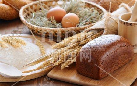 面包高清摄影美味丰富图片