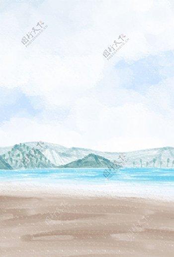 手绘山水图片