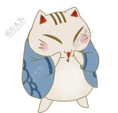 卡通日本招财猫图片