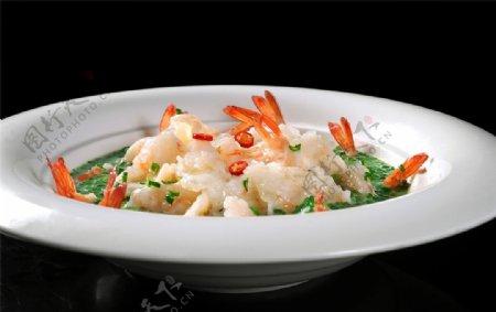 韭香水晶虾图片