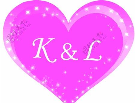婚庆粉色心形元素图片