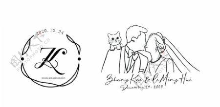婚礼LOGO猫猫ZL图片