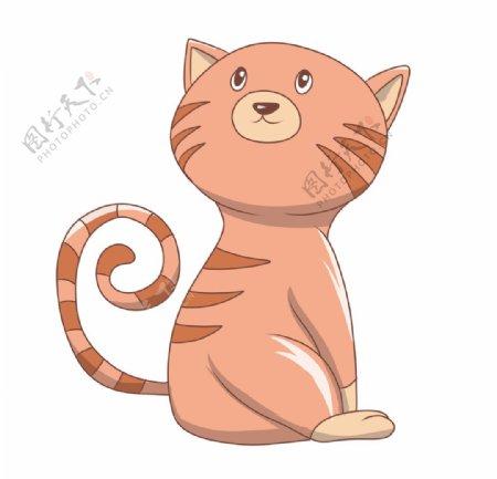 简约猫咪插画图片