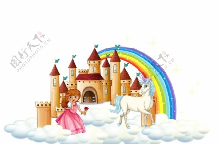 白雪公主天空城堡图片