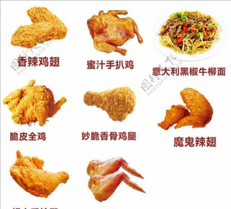 鸡翅矢量图图片