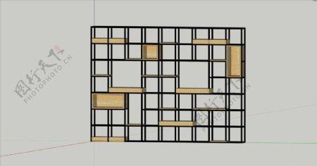 铁艺隔断SU模型图片