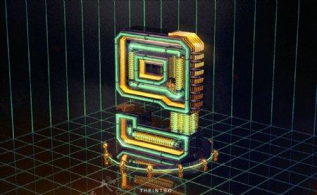 3D数字9图片