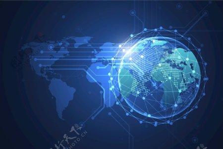 全球网络科技连接地球EPS素材图片