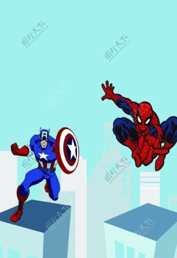 蜘蛛侠美国队长图片