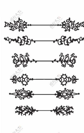 欧式花纹分割线图片
