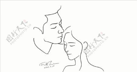 男女亲吻额头小感觉图片