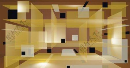方形立体背景图片