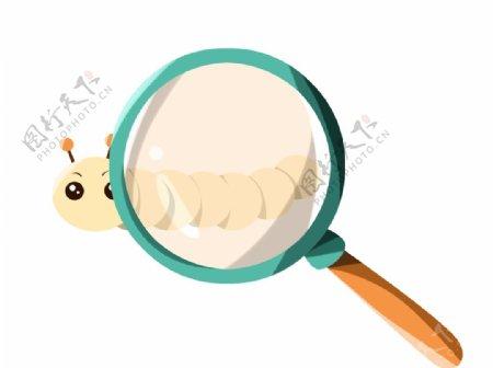放大镜下的毛毛虫图片