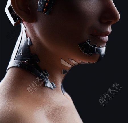 C4D模型人物人体模型机器图片