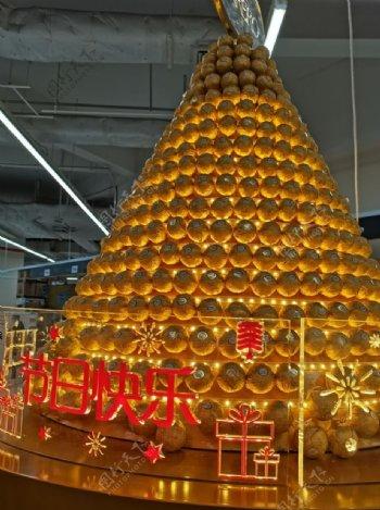 超市巧克力展览台图片
