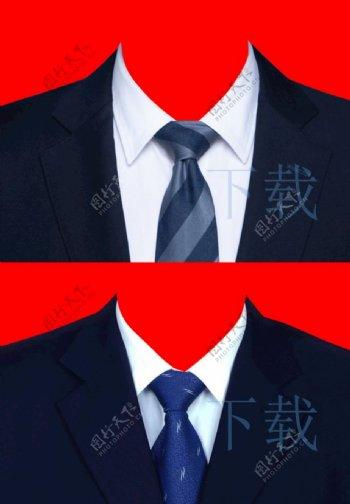 男人西装领带证件照素材图片
