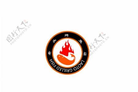 烤鱼店logo标志图片