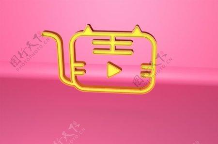 虎课logo立体镂空标志模型图片
