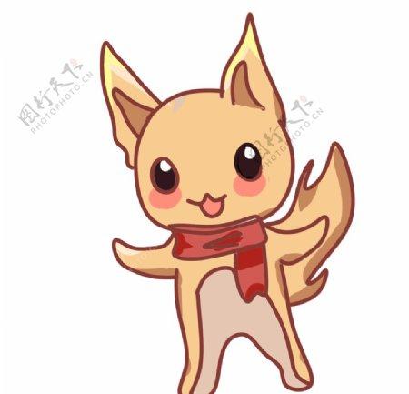 可爱的小狐狸手绘图片