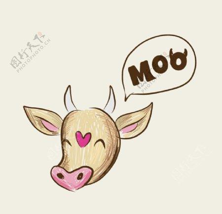 牛牛年奶牛公牛斗牛牧场图片