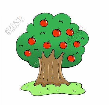 原创手绘水果苹果树图片