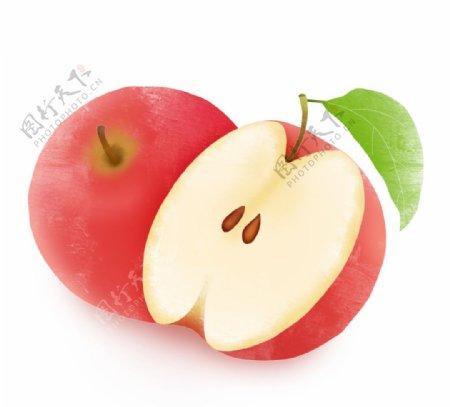 创意卡通手绘新鲜水果苹果元图片