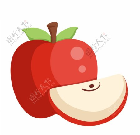 卡通水果苹果图片