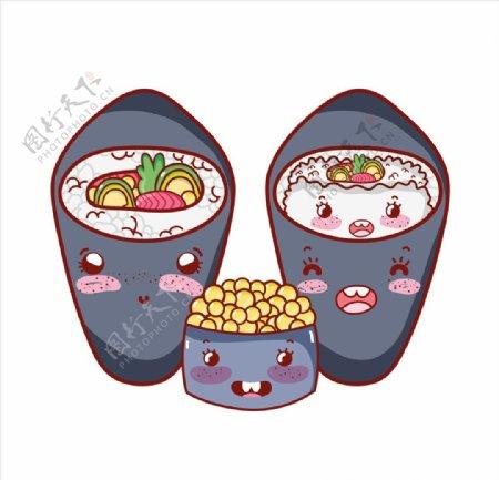卡通日本寿司图片
