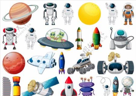 卡通太空集合图片