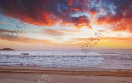 海边的晚霞图片