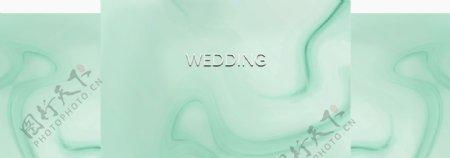 绿色婚礼背景设计图片